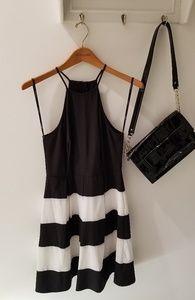 B. Darlin Black & White Sleeveless Cocktail Dress